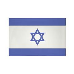 Israeli Flag Rectangle Magnet (100 pack)
