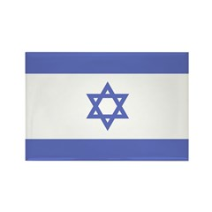 Israeli Flag Rectangle Magnet (100 pack)