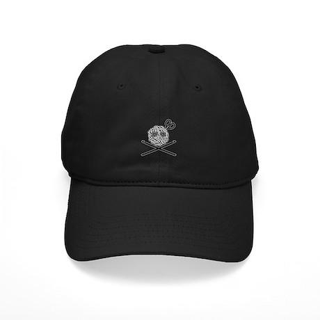 Pirate Crochet Black Cap