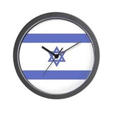 Israeli Flag Wall Clock