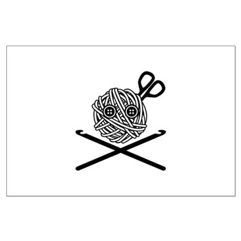 Pirate Crochet Large Poster