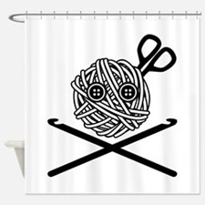 Pirate Crochet Shower Curtain