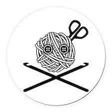 Pirate Crochet Round Car Magnet