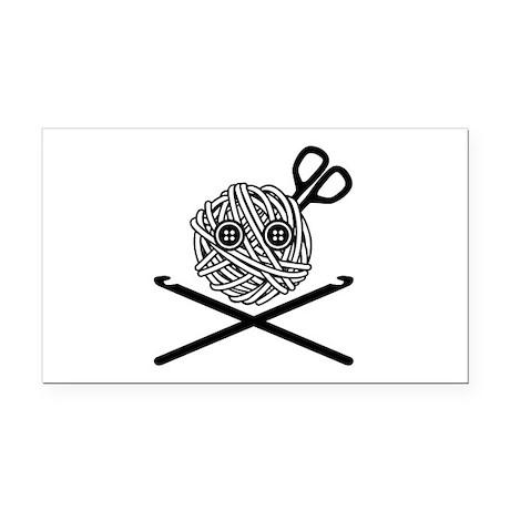Pirate Crochet Rectangle Car Magnet