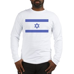 Israeli Flag Long Sleeve T-Shirt