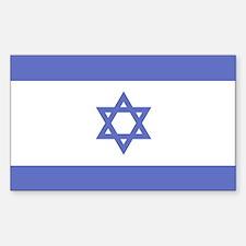 Israeli Flag Rectangle Decal