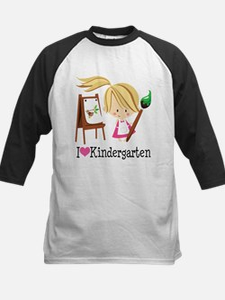 I Heart Kindergarten Kids Baseball Jersey