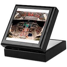 Shuttle Atlantis cockpit Keepsake Box
