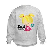 2nd Birthday Party Girl Sweatshirt