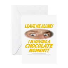 LeaveMeAloneChoc0002 Greeting Card