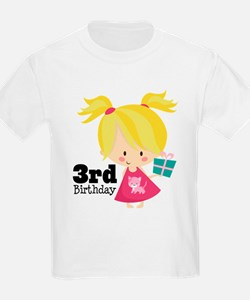 3rd Birthday Party Girl T-Shirt