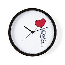 Clingy Samoyed Wall Clock