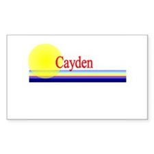 Cayden Rectangle Decal