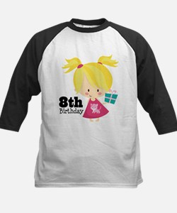8th Birthday Party Girl Tee