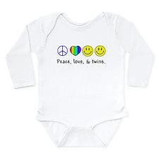 104 peace love twins Body Suit