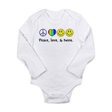 104 peace love twins Body Suit