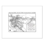 Pacific Electric Map Small Poster
