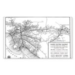 Pacific Electric Map Sticker (Rectangle 10 pk)