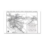 Pacific Electric Map Car Magnet 20 x 12