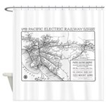 Pacific Electric Map Shower Curtain