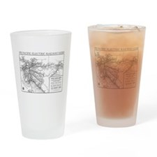 Pacific Electric Map Drinking Glass
