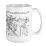 Pacific Electric Map Large Mug