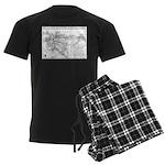 Pacific Electric Map Men's Dark Pajamas