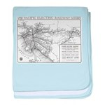 Pacific Electric Map baby blanket