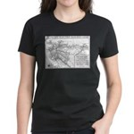 Pacific Electric Map Women's Dark T-Shirt