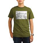 Pacific Electric Map Organic Men's T-Shirt (dark)