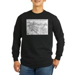 Pacific Electric Map Long Sleeve Dark T-Shirt