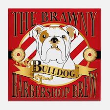 The Brawny Bulldog Barbershop Brew, Tile Coaster