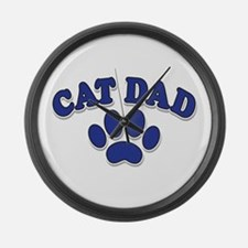 Cat Dad/Father's Day Large Wall Clock
