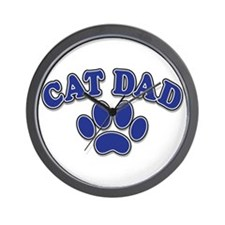 Cat Dad Wall Clock
