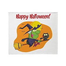 Halooween Witch Throw Blanket