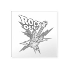 "Rockout Guitar Square Sticker 3"" x 3"""