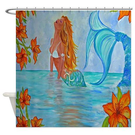 The Wisdom Seeker Mermaid By Alecia Shower Curtain