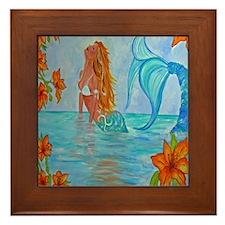The Wisdom Seeker Mermaid by Alecia Framed Tile