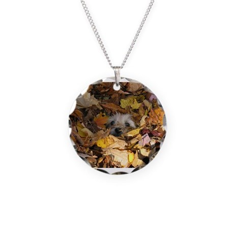 Cairn Terrier Necklace Circle Charm