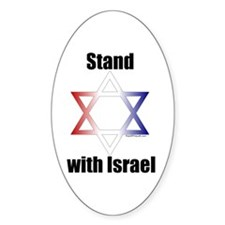 Stand with Israel Oval Decal