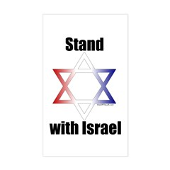 Stand with Israel Rectangle Decal