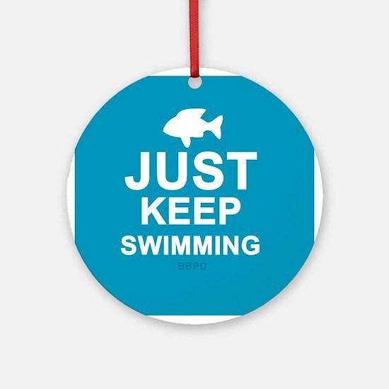 Keep Swimming Ornament (Round)