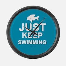 Keep Swimming Large Wall Clock