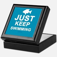 Keep Swimming Keepsake Box