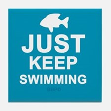 Keep Swimming Tile Coaster