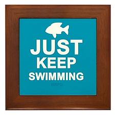 Keep Swimming Framed Tile
