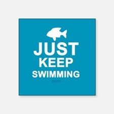 "Keep Swimming Square Sticker 3"" x 3"""
