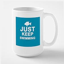 Keep Swimming Large Mug