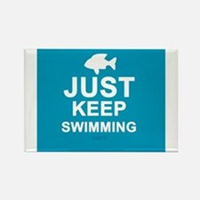 Keep Swimming Rectangle Magnet