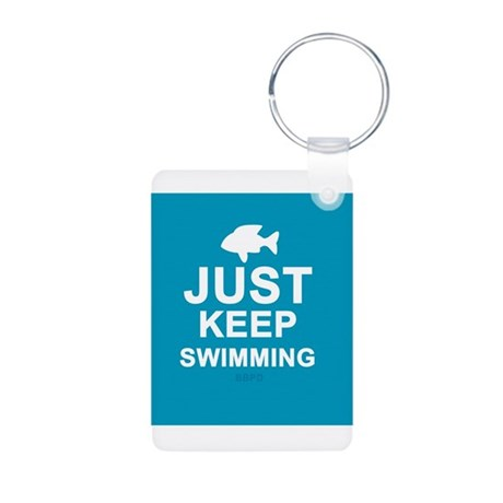 Keep Swimming Aluminum Photo Keychain